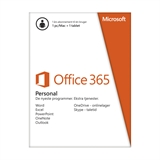 Microsoft Office 365 Personal - 12 måneder - dansk - PC + MAC + Tablet m.v