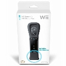 Wii Remote + Motion Plus (Sort / Black)