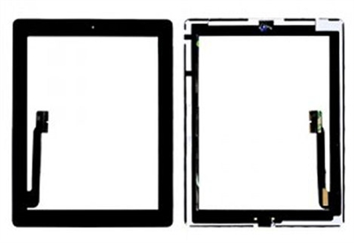 The New iPad 3 / 4 touch-skærm (glas + digitizer) - sort